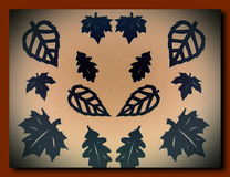 Black leaves. Paper cutting. Stock Photography