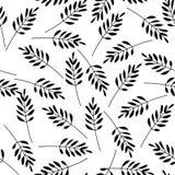 Black leaves, seamless pattern Stock Photos