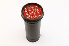 Black LED torch isolated on white background.  stock photography