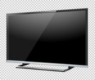 Black LED tv television screen blank on background.  Royalty Free Stock Image