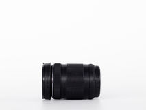 Black Lens Camera isolated on the white background. Royalty Free Stock Photos