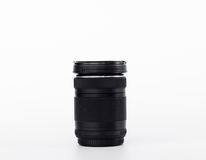 Black Lens Camera isolated on the white background. Stock Images