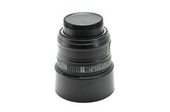 Black Lens Camera   isolated on white background Royalty Free Stock Photos