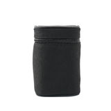 Black lens case bag isolated Royalty Free Stock Photography