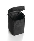 Black lens case bag  on white Royalty Free Stock Images