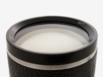 Black lens glass isolated Stock Image