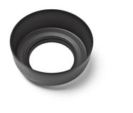Black lens hood top view Stock Photography