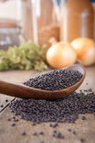 Black lentils Stock Image