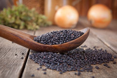 Black lentils Royalty Free Stock Photography