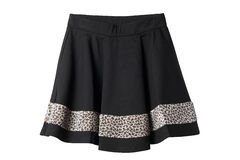 Black and leopard skirt. On white Royalty Free Stock Images