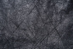 Black lether texture Royalty Free Stock Image