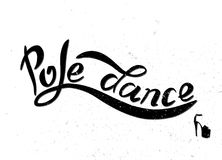 Black lettering pole dance Royalty Free Stock Image