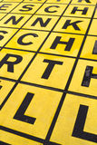 Black letters on yellow background. Stock Images