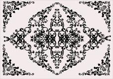Black on light background flower ornament Stock Photography