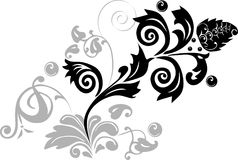 Black and light gray ornament Stock Photography