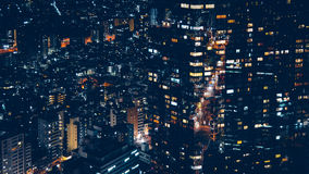 Black Lighted High Rise Building Royalty Free Stock Images
