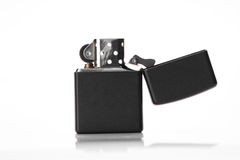 Black lighter on white isolated Stock Photography