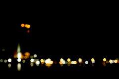 Black and lights. And bokeh Stock Image
