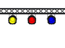 black lights spot Στοκ Φωτογραφία