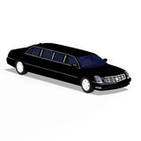 Black limo Stock Images