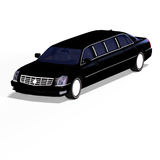 Black limo Stock Photo