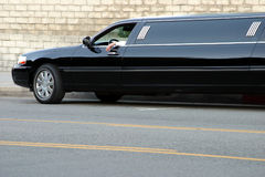 Black limousine Royalty Free Stock Images