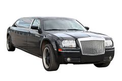 Black limousine Stock Photos