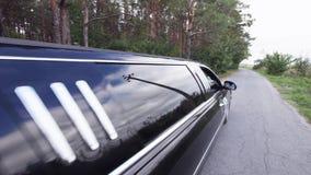 Black Limousine stock video