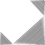 Black line abstract pattern with white background. Vector, copy space for text, black and white theme Stock Image