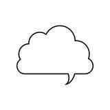 Black line contour of cloud speech Stock Image