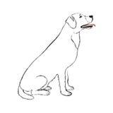 Black Line Dog Royalty Free Stock Photo