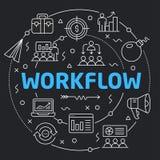 Black Line Flat Circle illustration workflow Stock Images