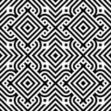 Black line geometric diamond abstract seamless pattern vector background Stock Images