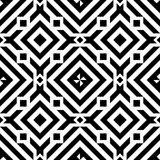 Black line geometric diamond abstract seamless pattern vector background Royalty Free Stock Photography