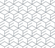 Black line pattern on white, seamless backdrop, minimalistic design. Linear seamless pattern, thin lines. Subtle geometric vector background Stock Photo