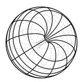 Black line scheme sphere sketch  Stock Photos