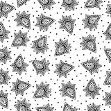Black line seamless pattern on the white background Royalty Free Stock Image