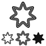 Black line star logo design set. Black line star logo icon design set Royalty Free Stock Photos