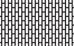 Black line and white square geometric easy abstract pattern vector background design. Black line and white square geometric easy abstract pattern vector Royalty Free Stock Images