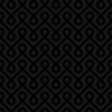 Black Linear Weaved Seamless Pattern. Stock Images