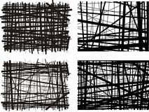 Black lined backgrounds royalty free illustration