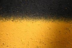 black lines yellow Royaltyfri Bild