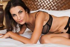 Black lingerie Stock Photos