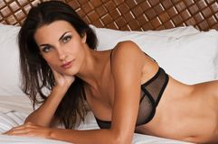Black lingerie Stock Image