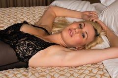 Black lingerie Stock Images