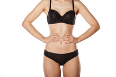 Black lingerie Royalty Free Stock Images