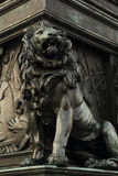 Black lion statue Stock Photos