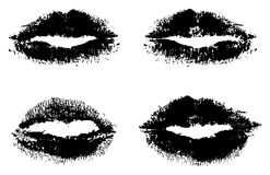 Black lips Royalty Free Stock Images