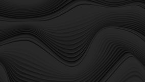 Black liquid abstract 3d refracted waves video animation