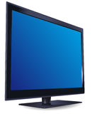 Black liquid-crystal TV-set Royalty Free Stock Image